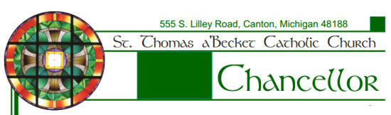 Masthead of the Chancellor, our church bulletin